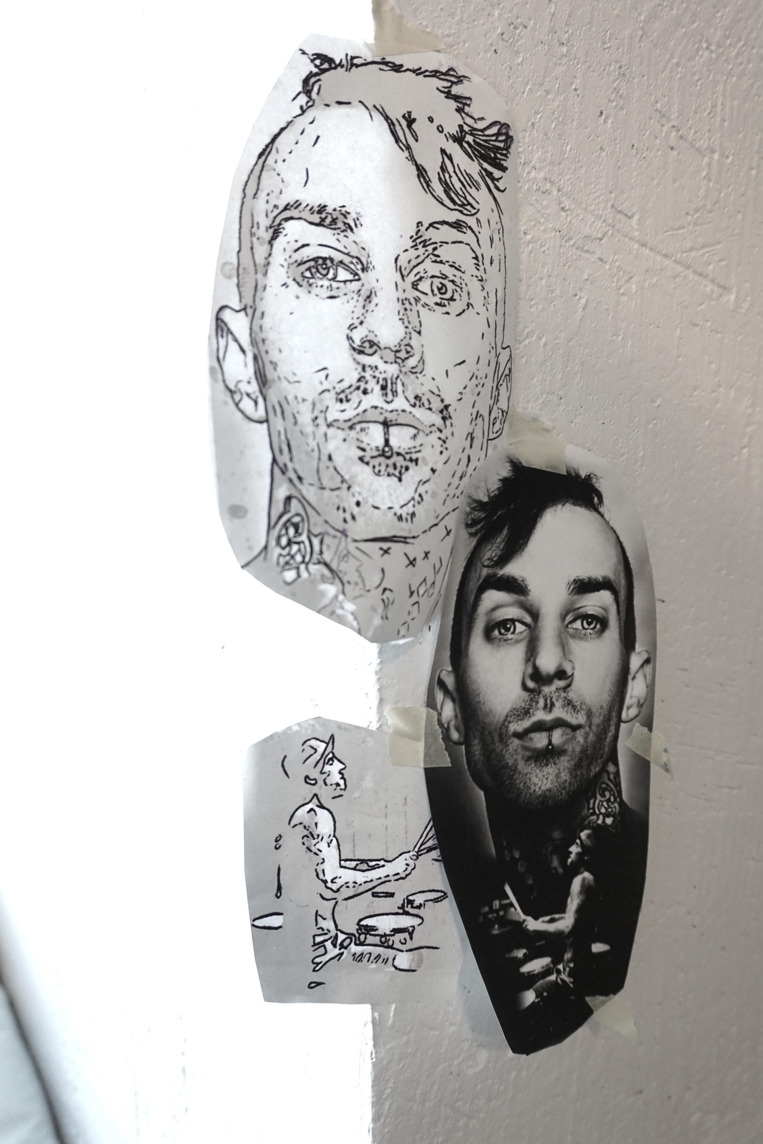 Häppening ja Vares Film Travis Barker tattoo